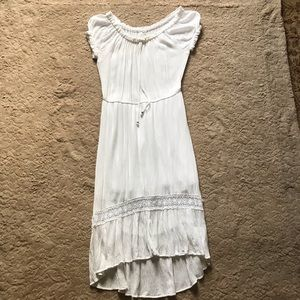 NY Collection white dress, size small